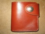 Wallet: cow leather(folded11x10cm)